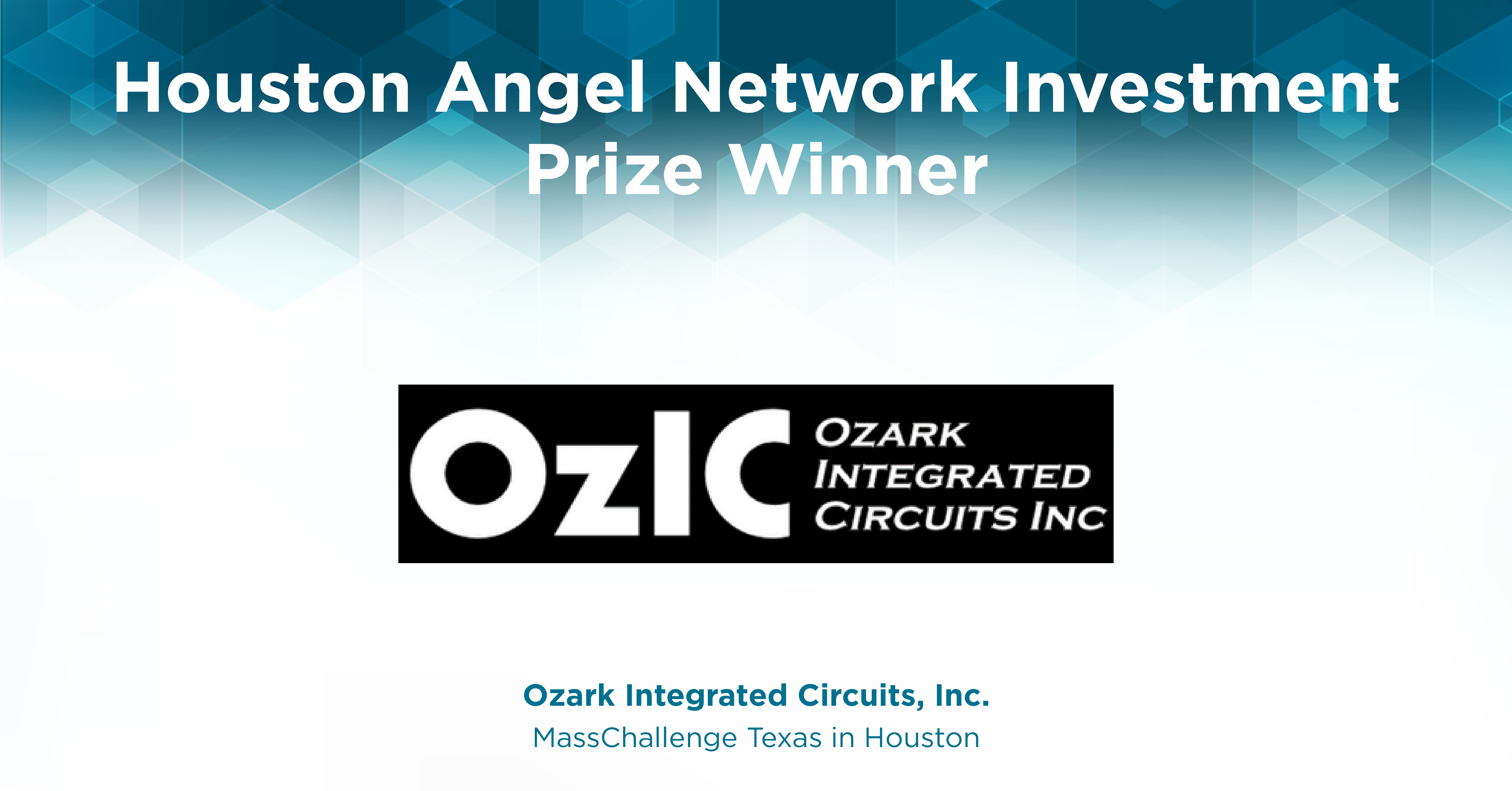 Houston Angel Network Investment Prize badge